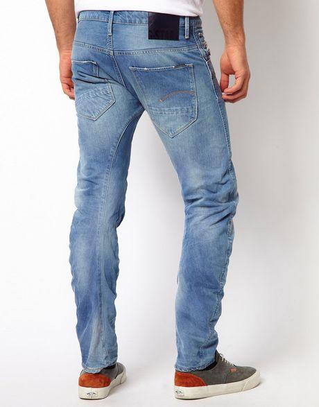 asos g star jeans arc 3d slim light aged in blue for men lyst. Black Bedroom Furniture Sets. Home Design Ideas