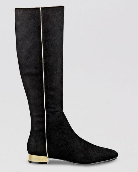 Isaac Mizrahi Tall Dress Boots Sandra Flat In Black Black