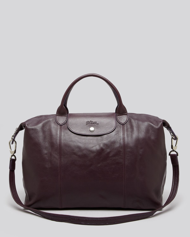 fcfebe5a60df Lyst - Longchamp Satchel Le Pliage Cuir Large in Brown