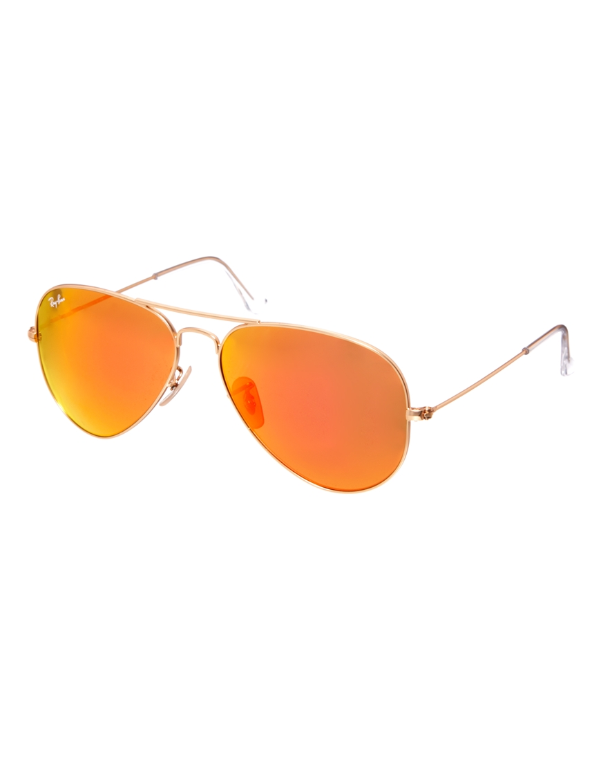 ray ban sunglasses aviator orange