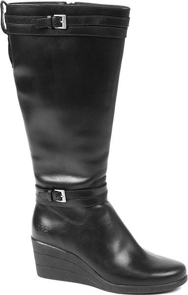 ugg irmah knee high boots in black lyst