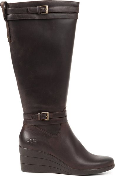 ugg irmah knee high boots in brown brown lyst