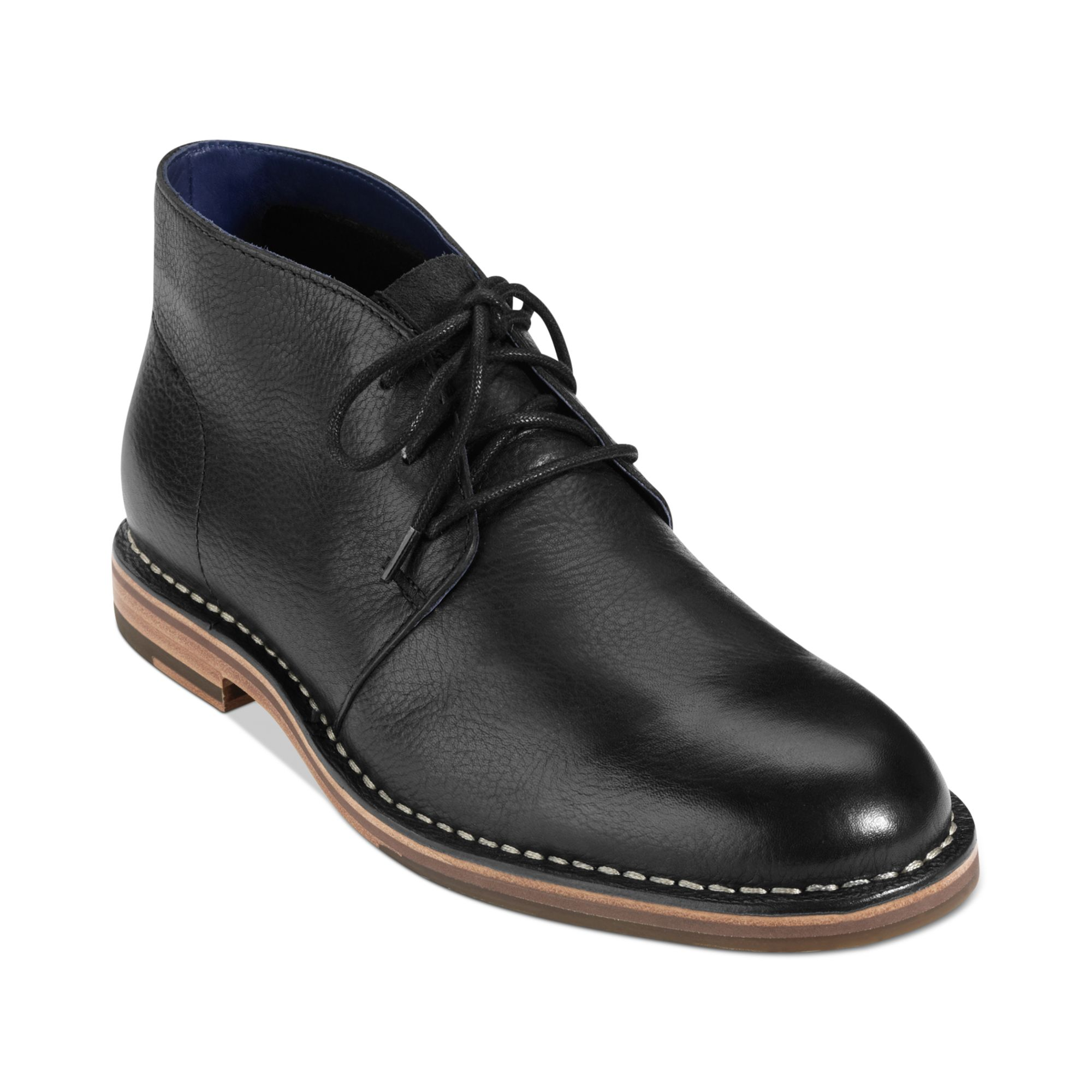 cole haan glenn chukka boots in black for lyst
