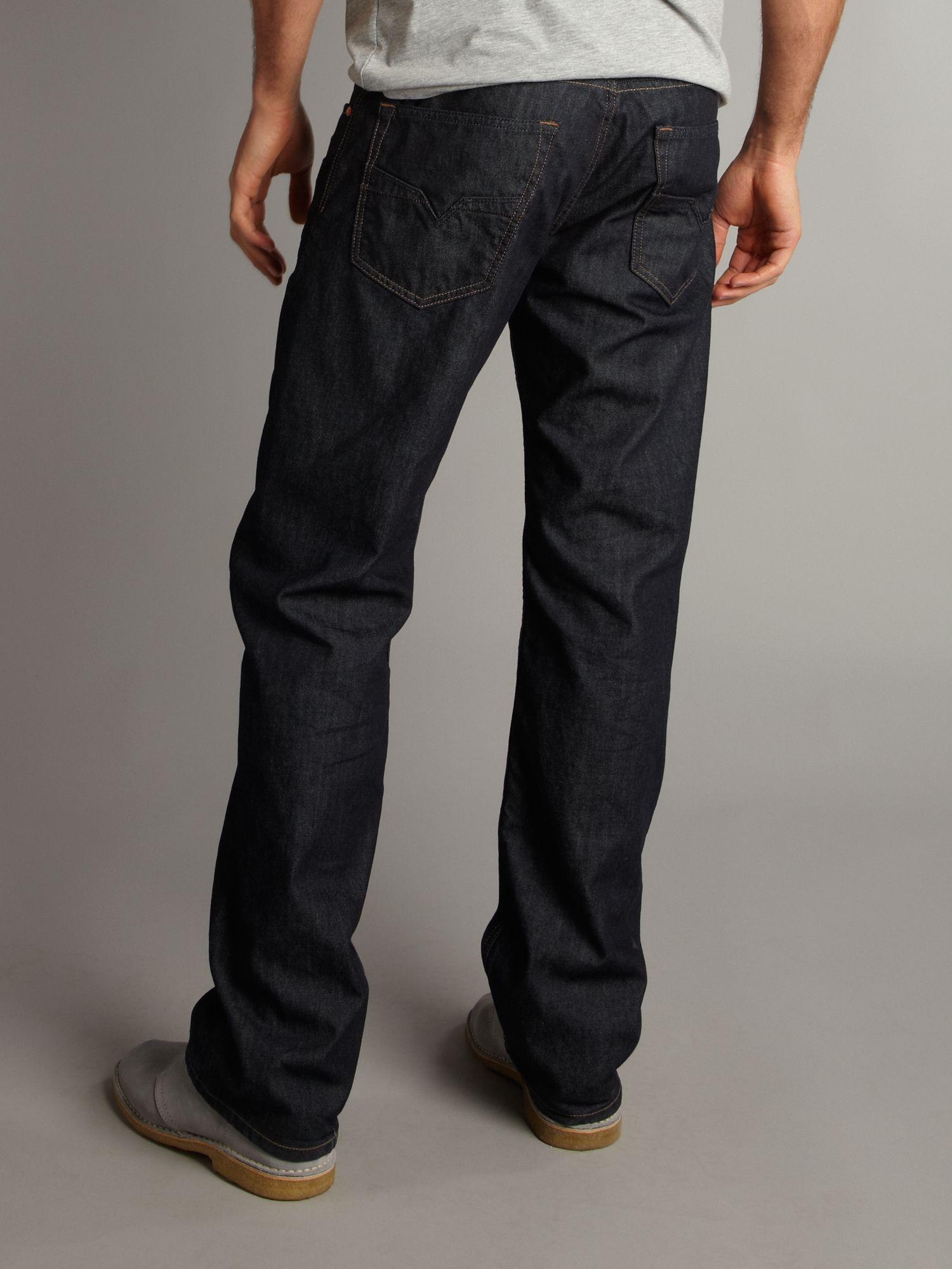 Black Straight Jeans Men
