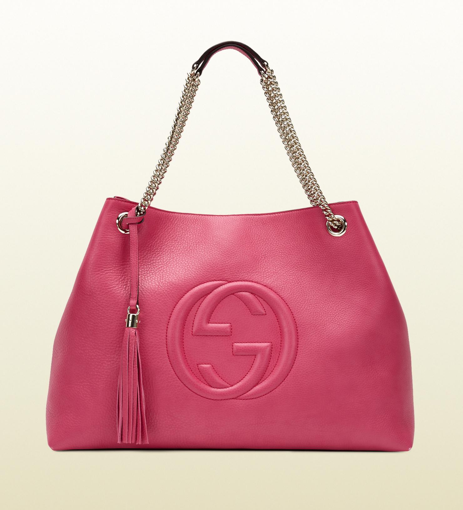 Gucci Soho Shocking Pink Leather Shoulder Bag in Pink | Lyst