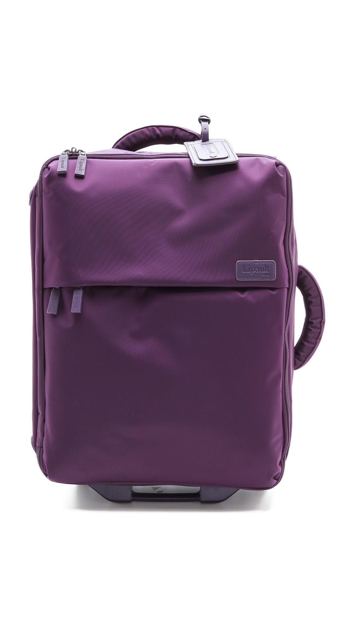 lipault foldable 22 wheeled carry on bag teal in purple. Black Bedroom Furniture Sets. Home Design Ideas
