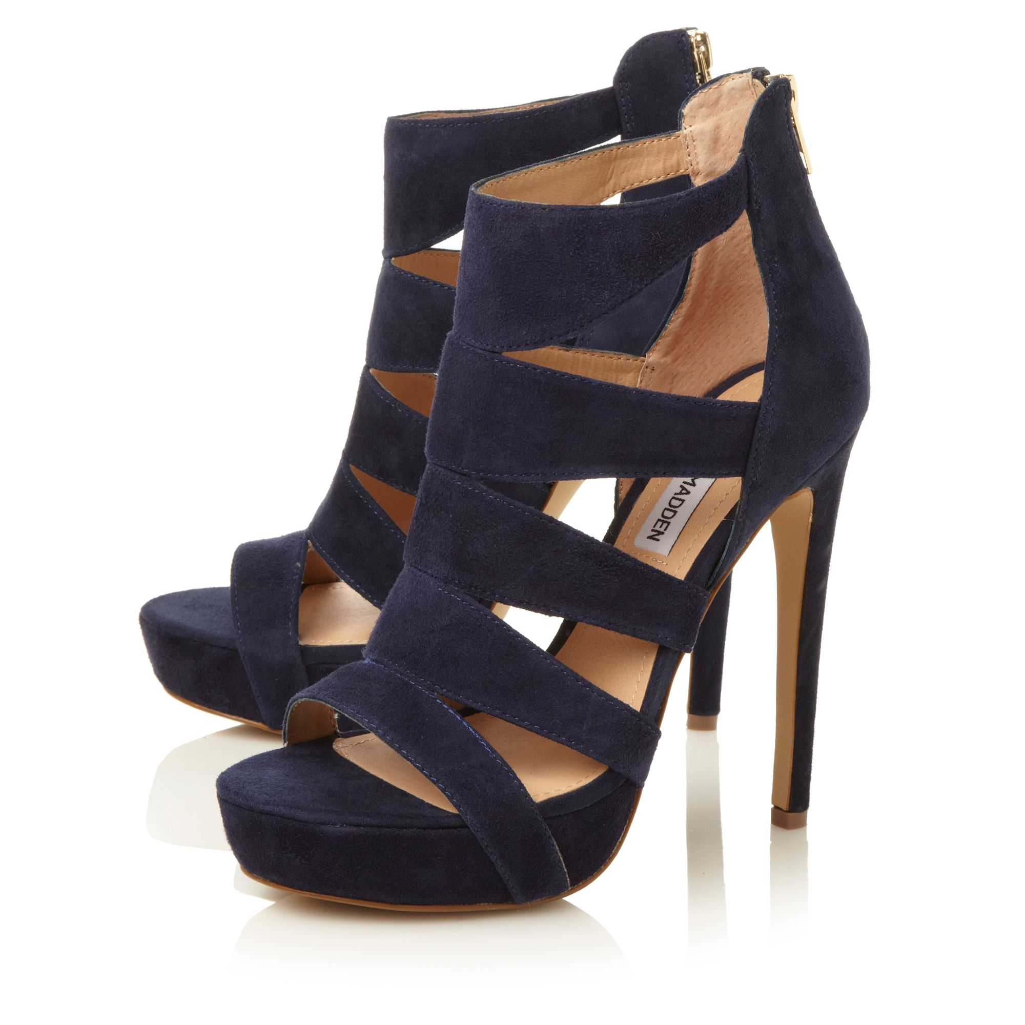 Steve madden Spycee Caged High Heel Sandals in Blue | Lyst