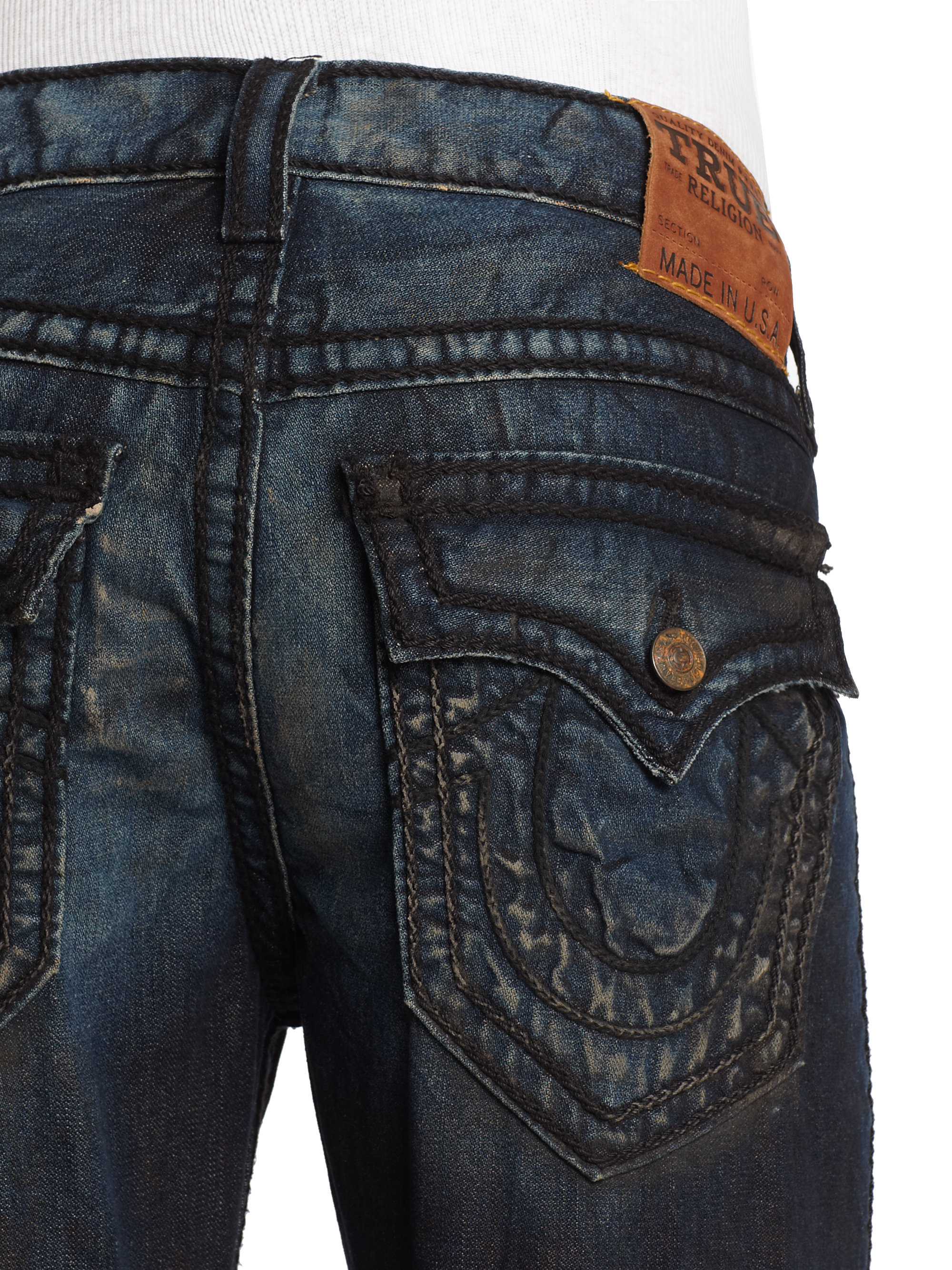 ae68582a0 True Religion Ricky Rope Stitch Straightleg Jeans in Blue for Men - Lyst