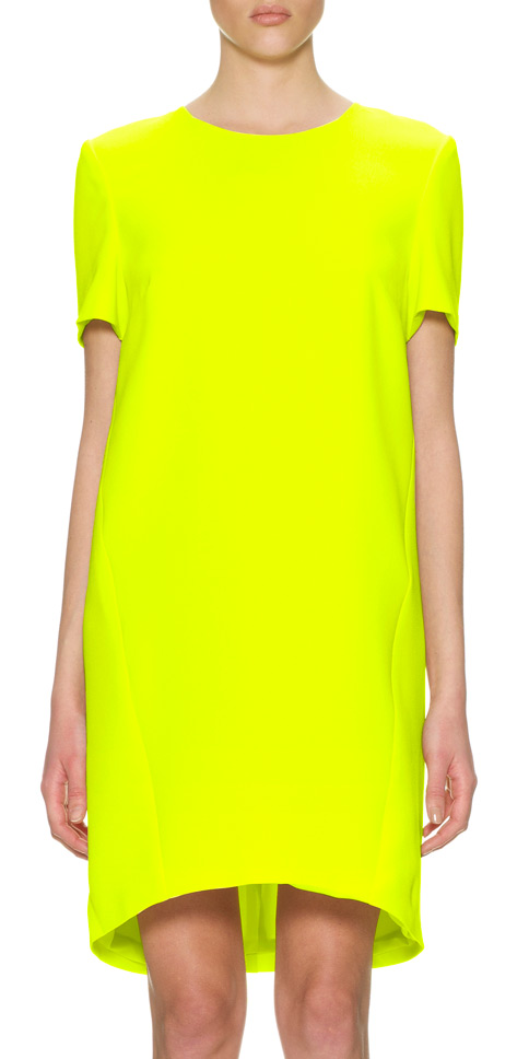 Whistles yellow crepe dress