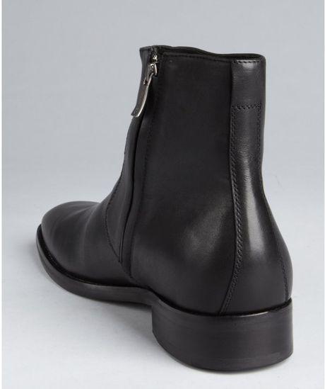 kenneth cole black leather side zip color scheme ankle