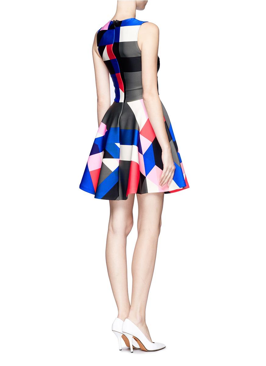 55dcbfe29dae Lyst - MSGM Geometric Pattern Sleeveless Dress
