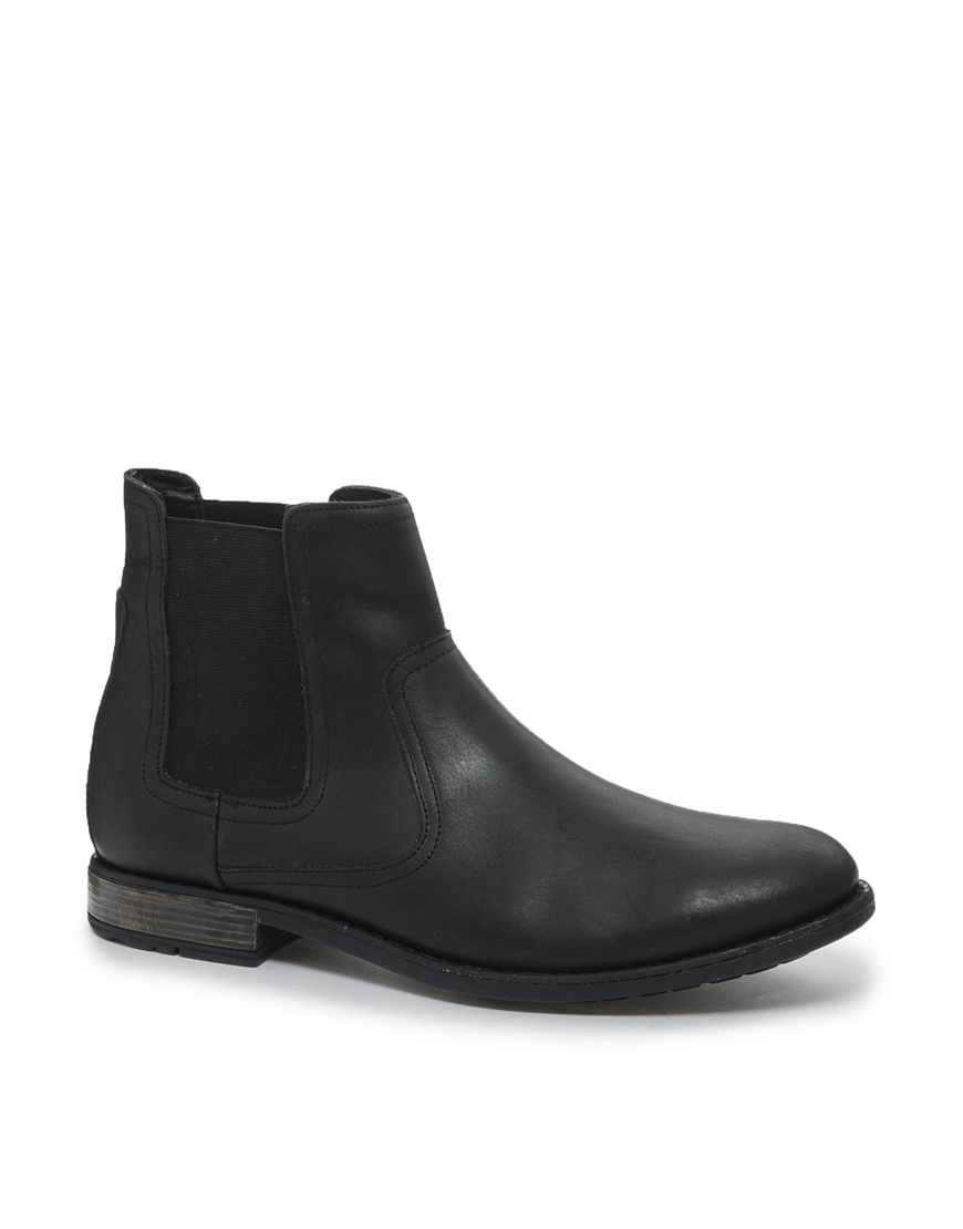 Fred perry Chelsea Boots In Leather in Black for Men