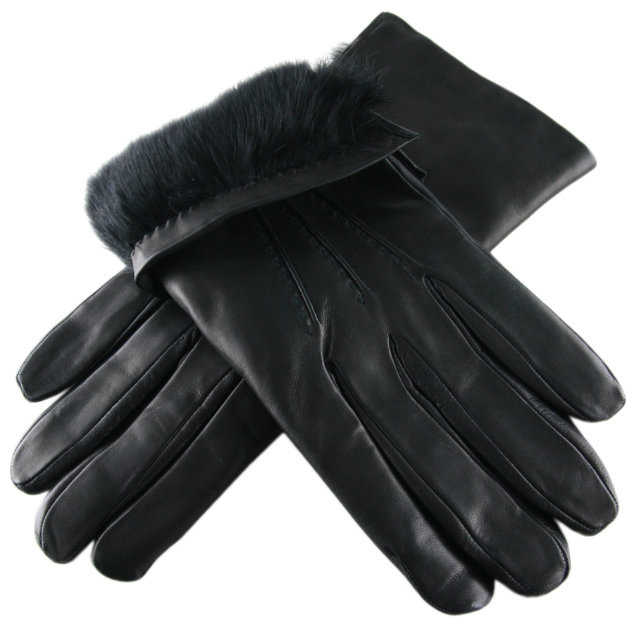 Mens leather gloves rabbit fur lined - Gallery Men S Leather Gloves