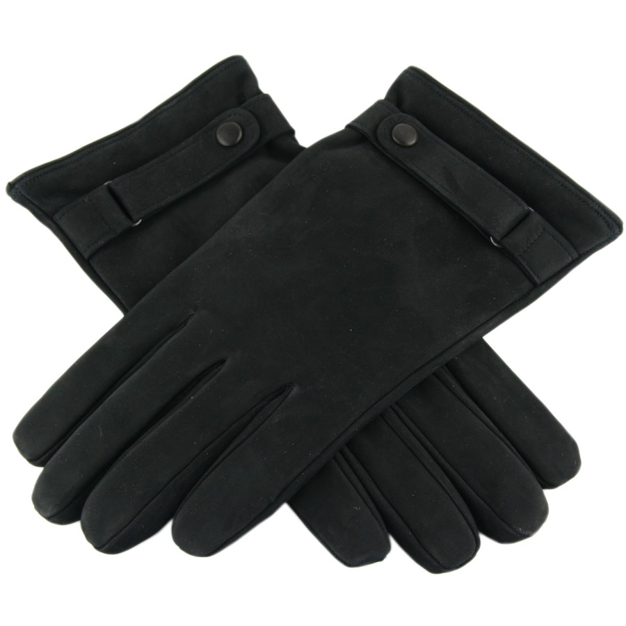 Black leather gloves buttons - Gallery Men S Leather Gloves