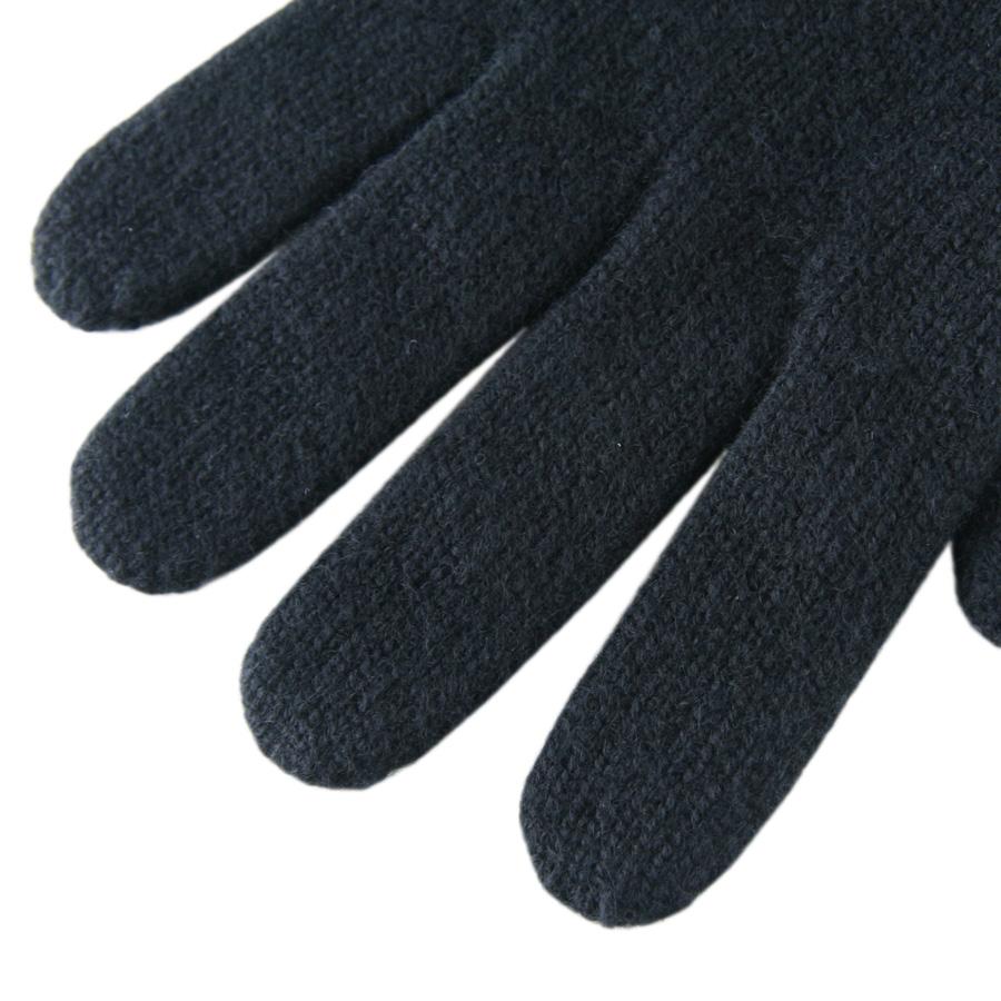 Ladies leather gloves navy - Gallery
