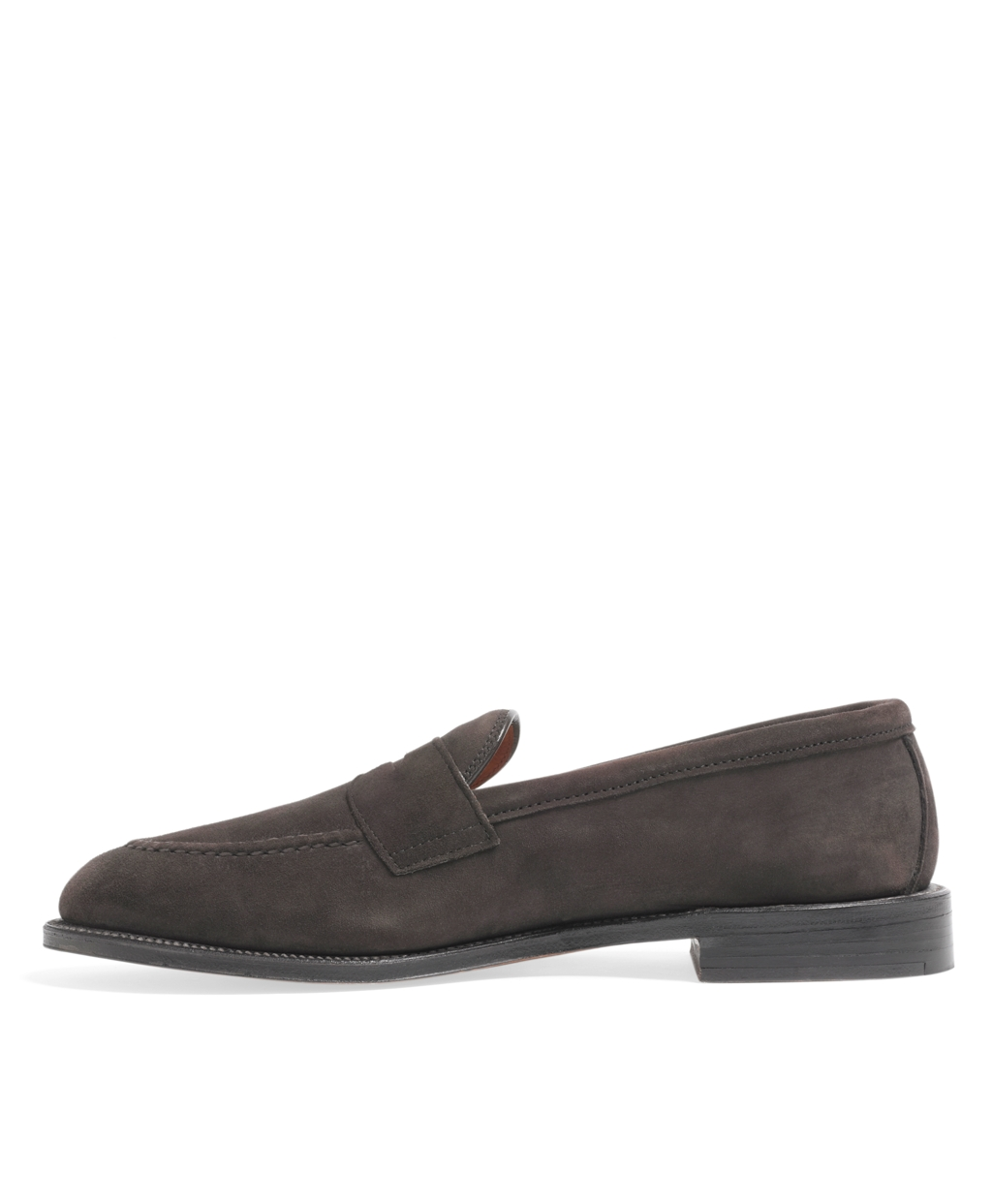 077be650024 Lyst - Brooks Brothers Hand Sewn Suede Penny Loafer in Brown for Men