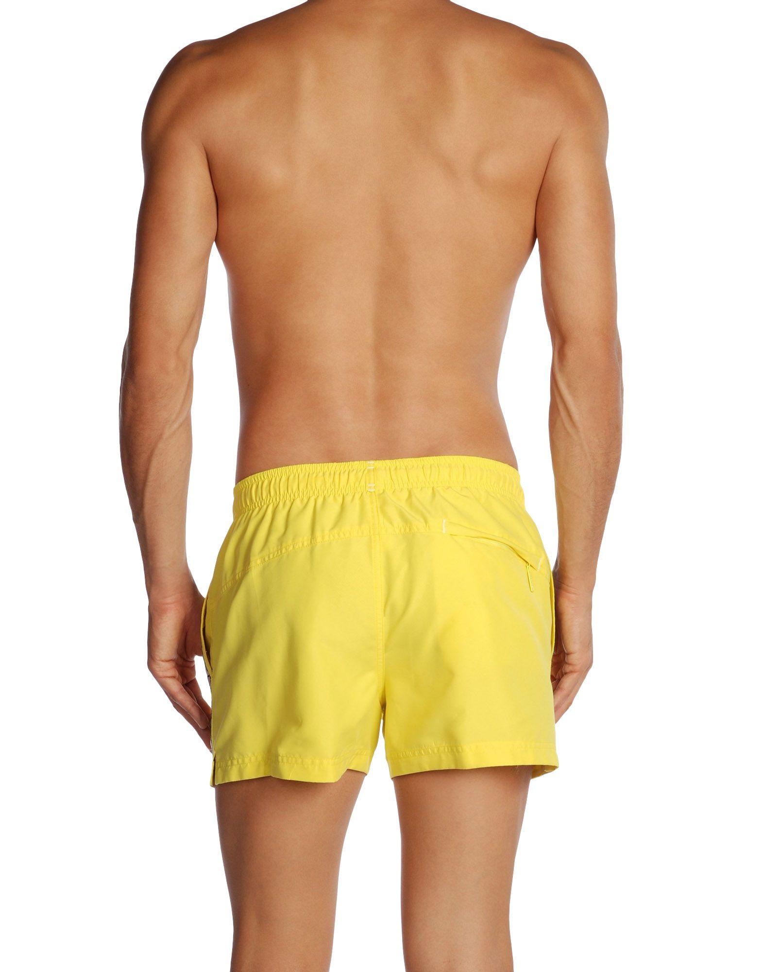 calvin klein yellow swimming trunks for men lyst. Black Bedroom Furniture Sets. Home Design Ideas