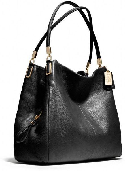 Coach Small Black Leather Shoulder Bag 117