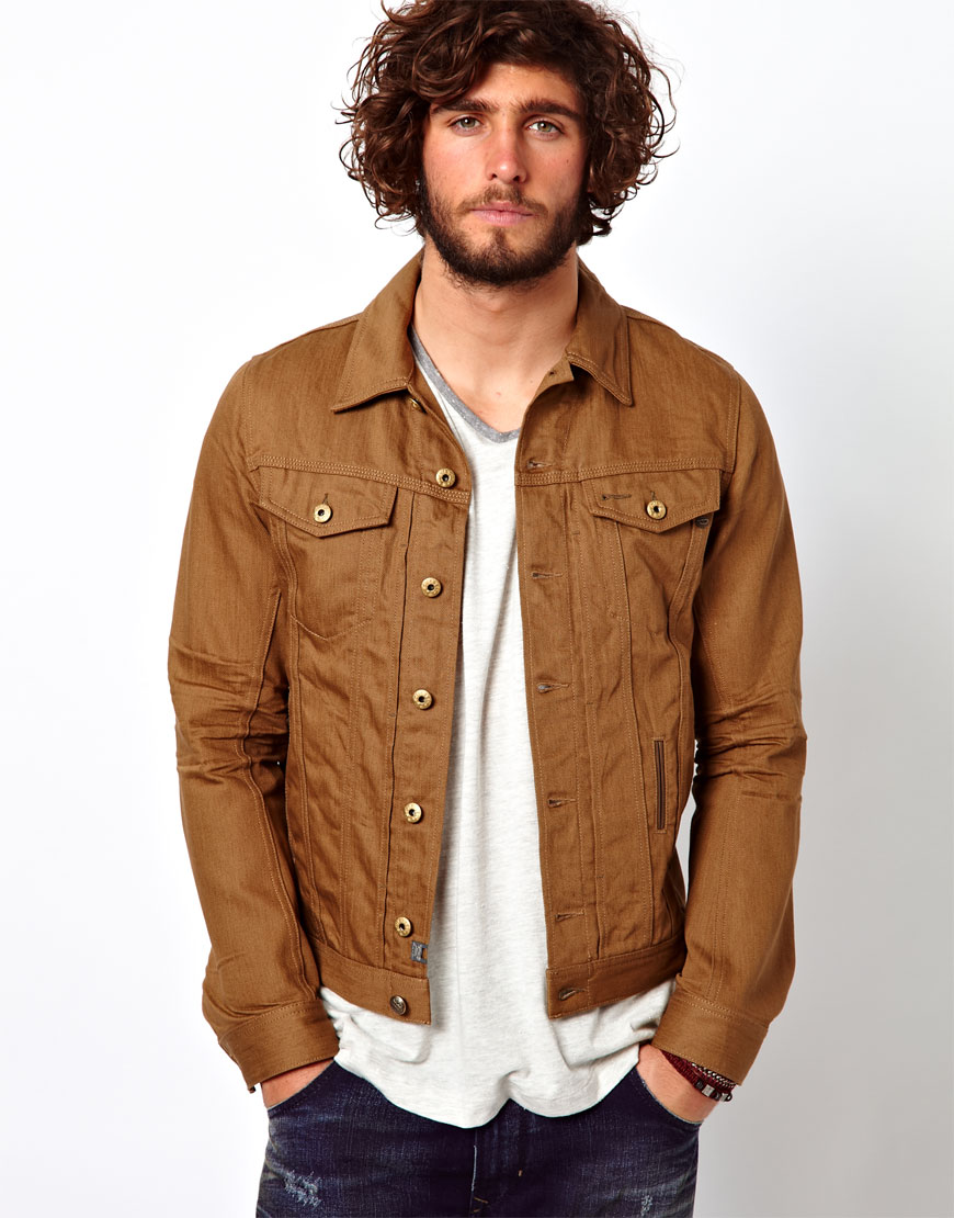 Diesel Denim Jacket Elshar In Brown For Men Lyst