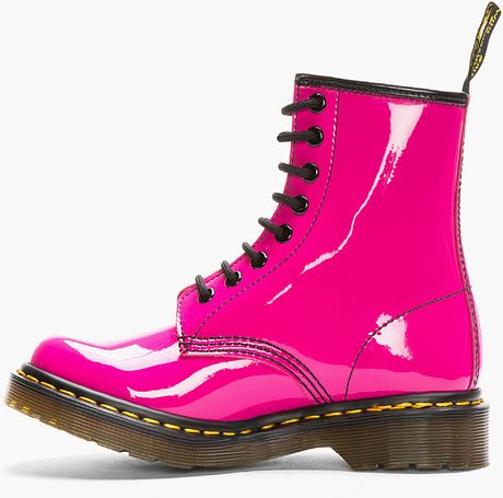 Dr Martens Hot Pink Patent Leather Cambridge Brush W 8