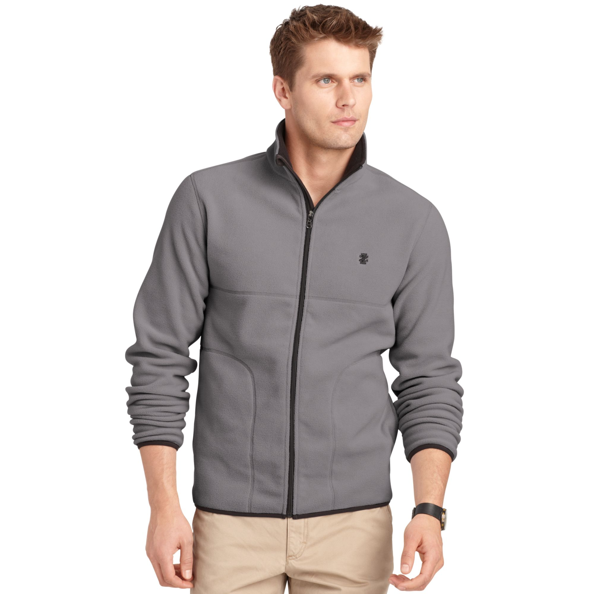 Lyst Izod Big And Tall Jacket Polar Fleece Full Zip