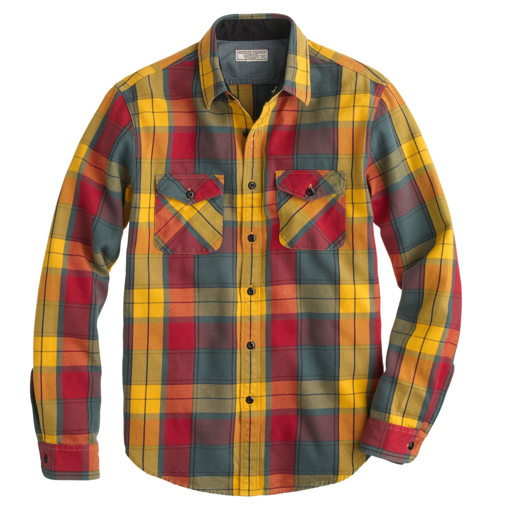 Wallace Barnes Heavy Weight Flannel Shirt In Heron