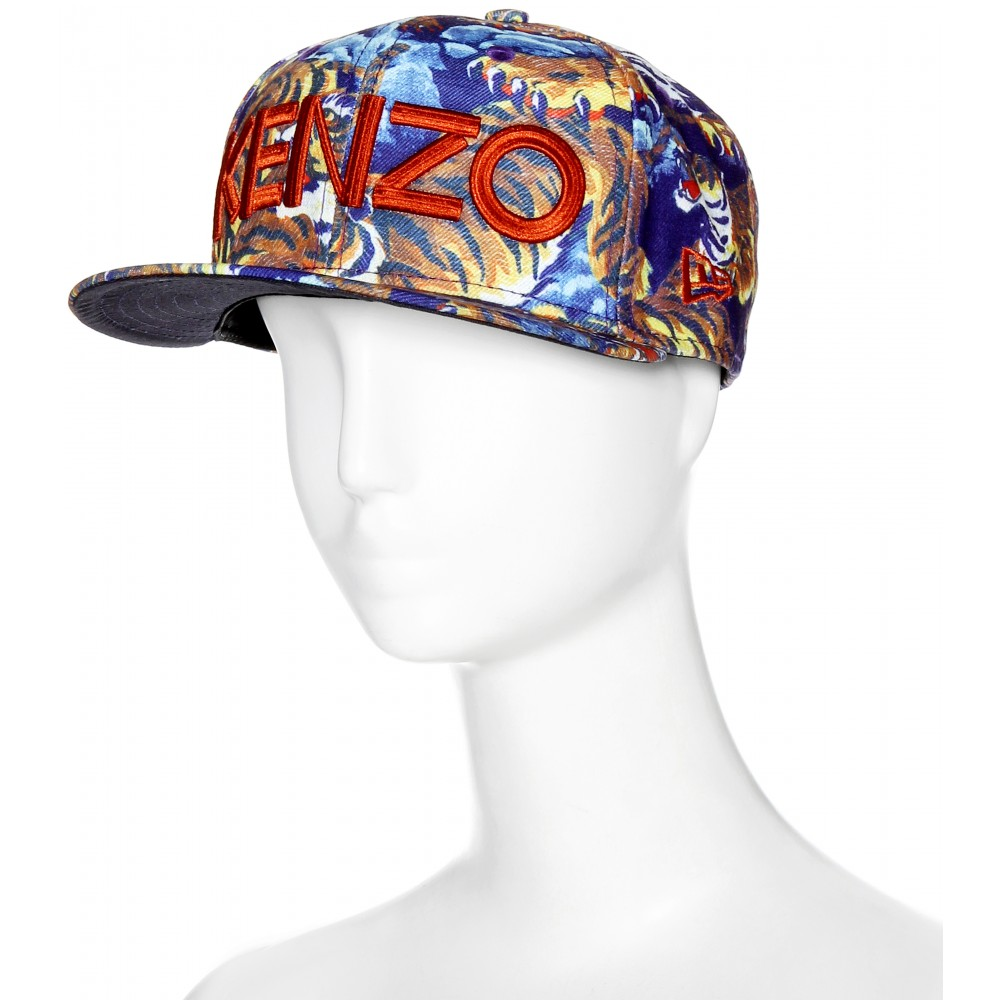 498c88fe937 Lyst - KENZO Flying Tiger Printed Baseball Cap in Blue