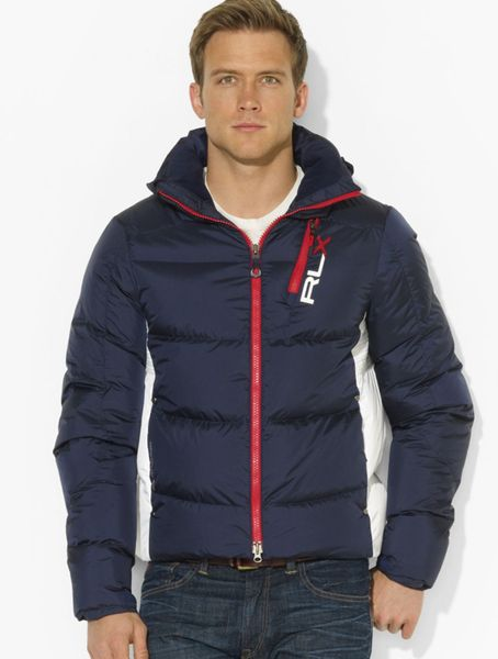 ralph lauren polo rlx core down jacket in blue for men aviator navy lyst. Black Bedroom Furniture Sets. Home Design Ideas