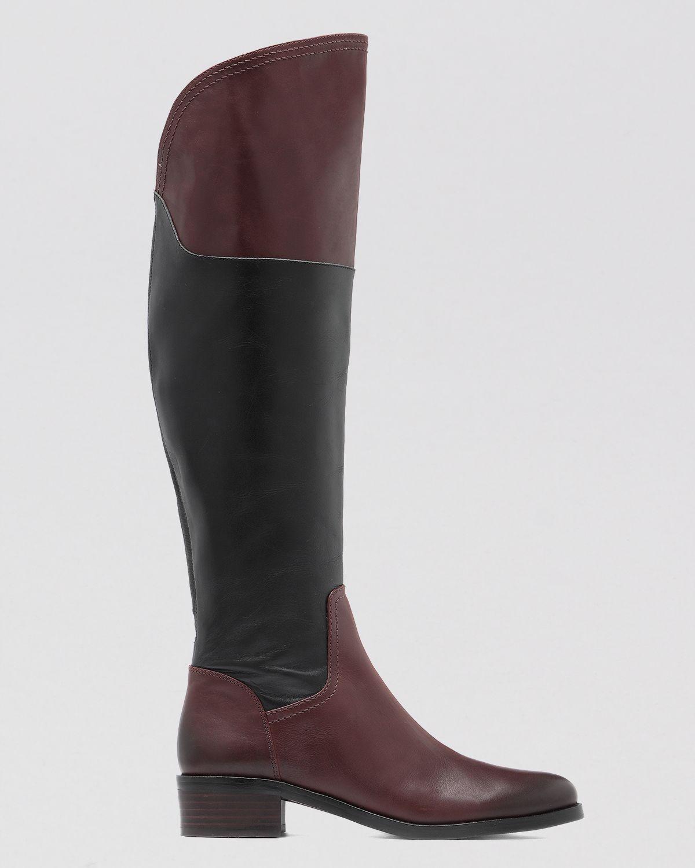 90de1cabd1a Tall Women s Vince Camuto Vatero Black Chestnut Gentle Calf Leather ...