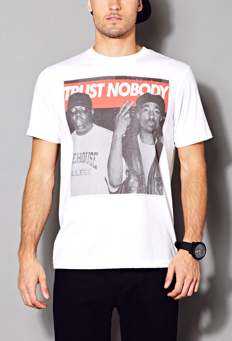 Lyst Forever 21 Trust Nobody Tee In White For Men
