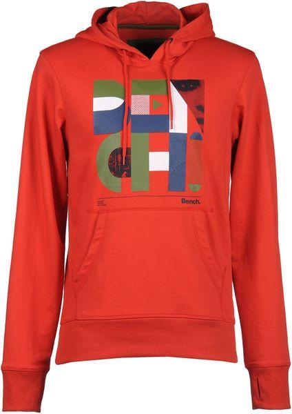 Bench Sweatshirt In Red For Men Lyst