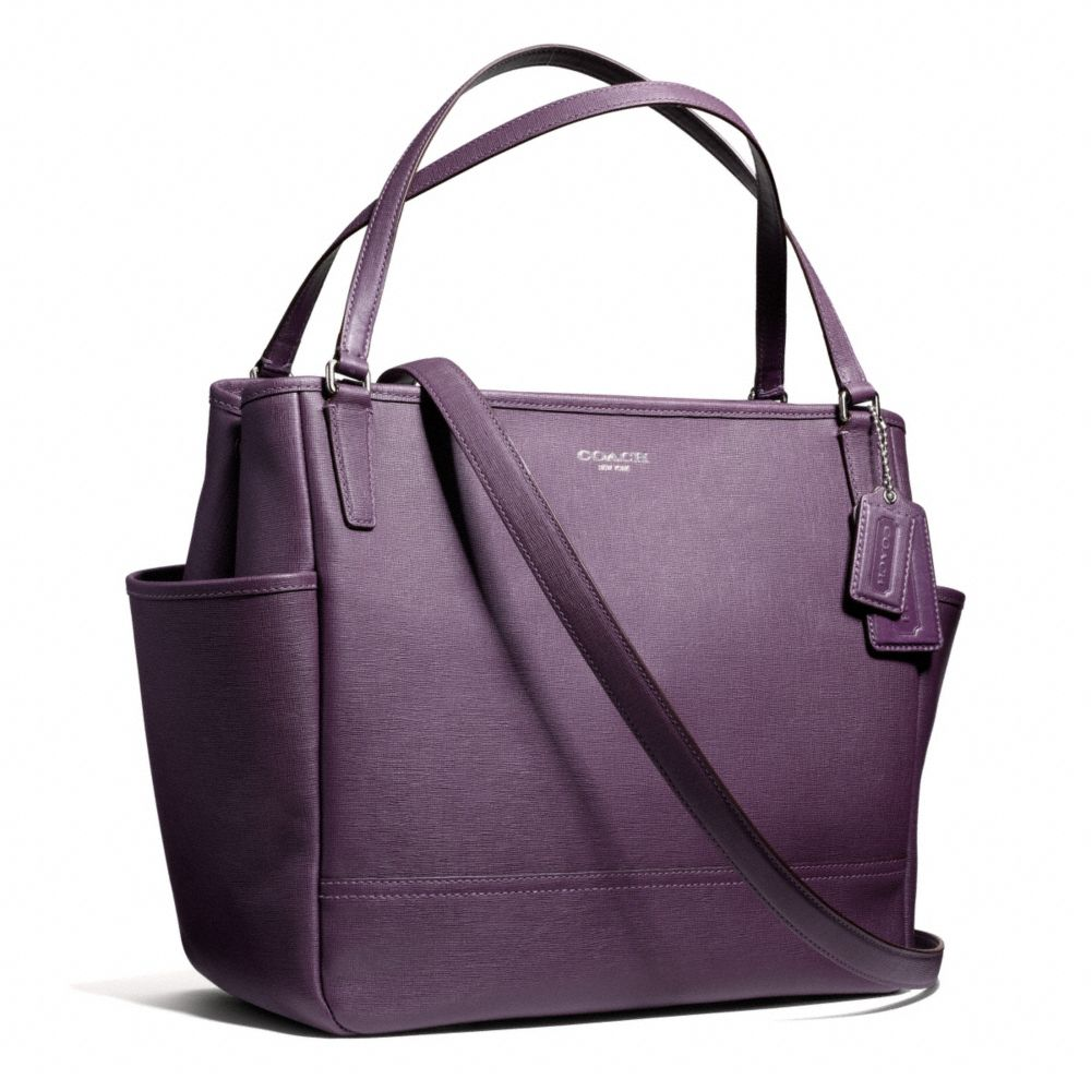 coach baby bag tote in saffiano leather in pink lyst