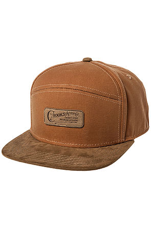 546e6dfc828 Lyst - Crooks and Castles The Heavy Steel Strapback Hat in Natural ...