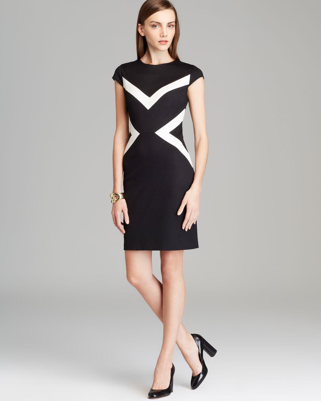 Lyst Cynthia Steffe Cap Sleeve Color Block Dress