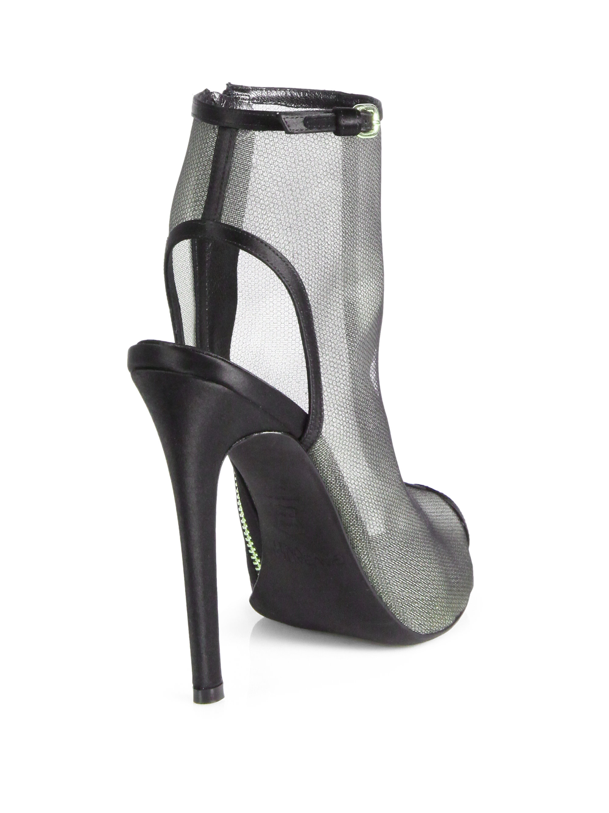 buy cheap footaction best cheap price Giambattista Valli Peep-Toe Mesh Booties new styles sale online sale pick a best mXynC