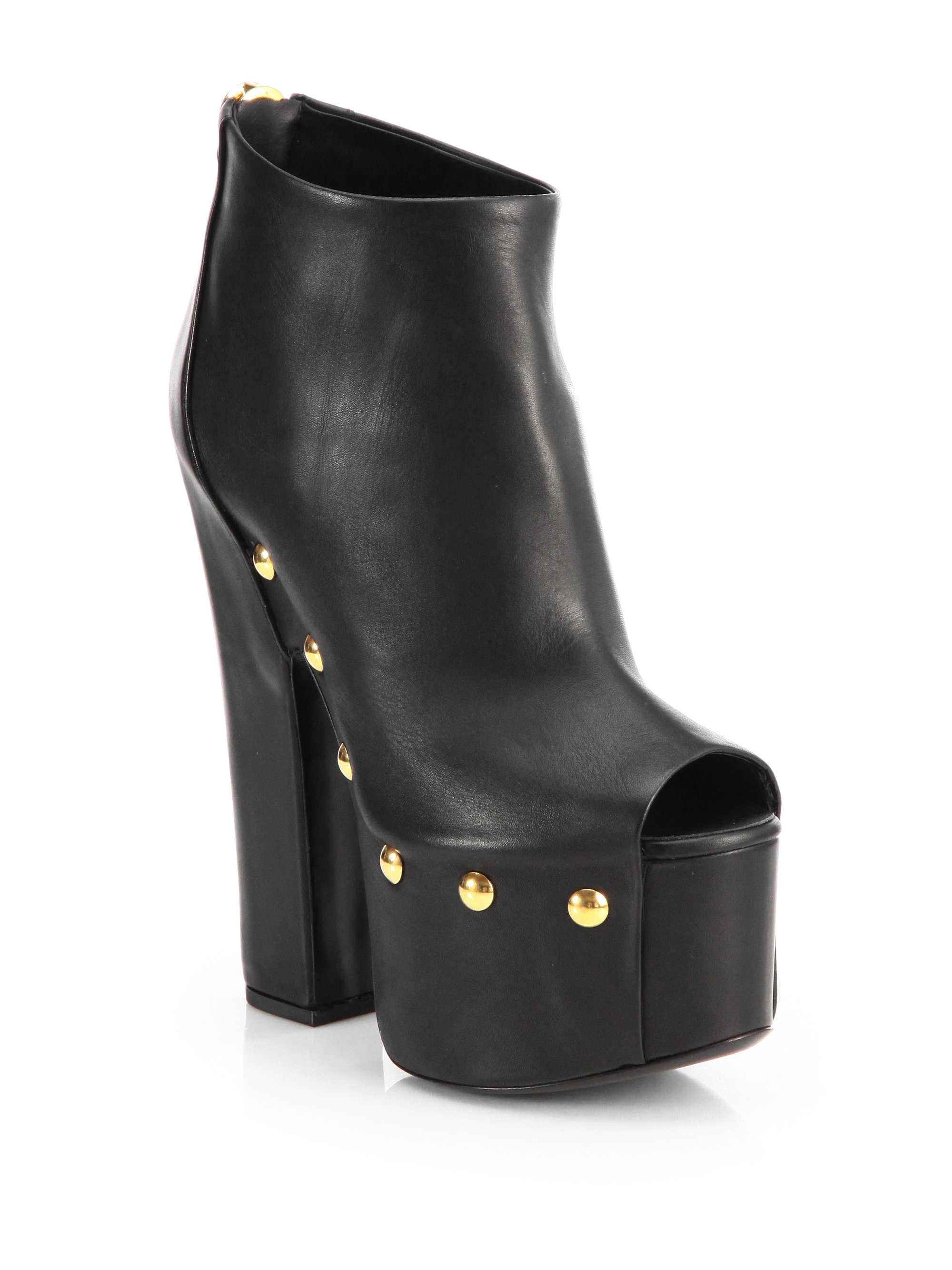 Black Studded Zanotti in Lyst Ankle Leather Platform Giuseppe Boot EqBB8wC