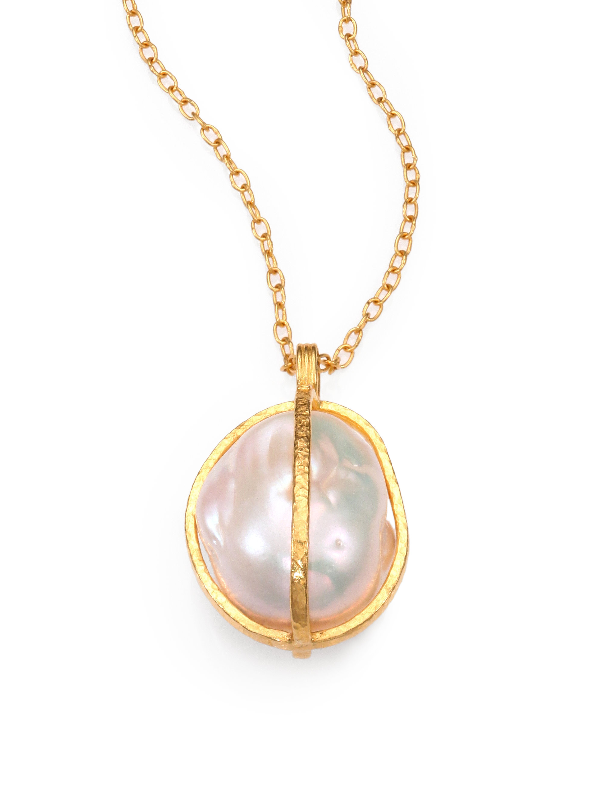 gurhan 18mm 24mm freshwater white baroque pearl 24k