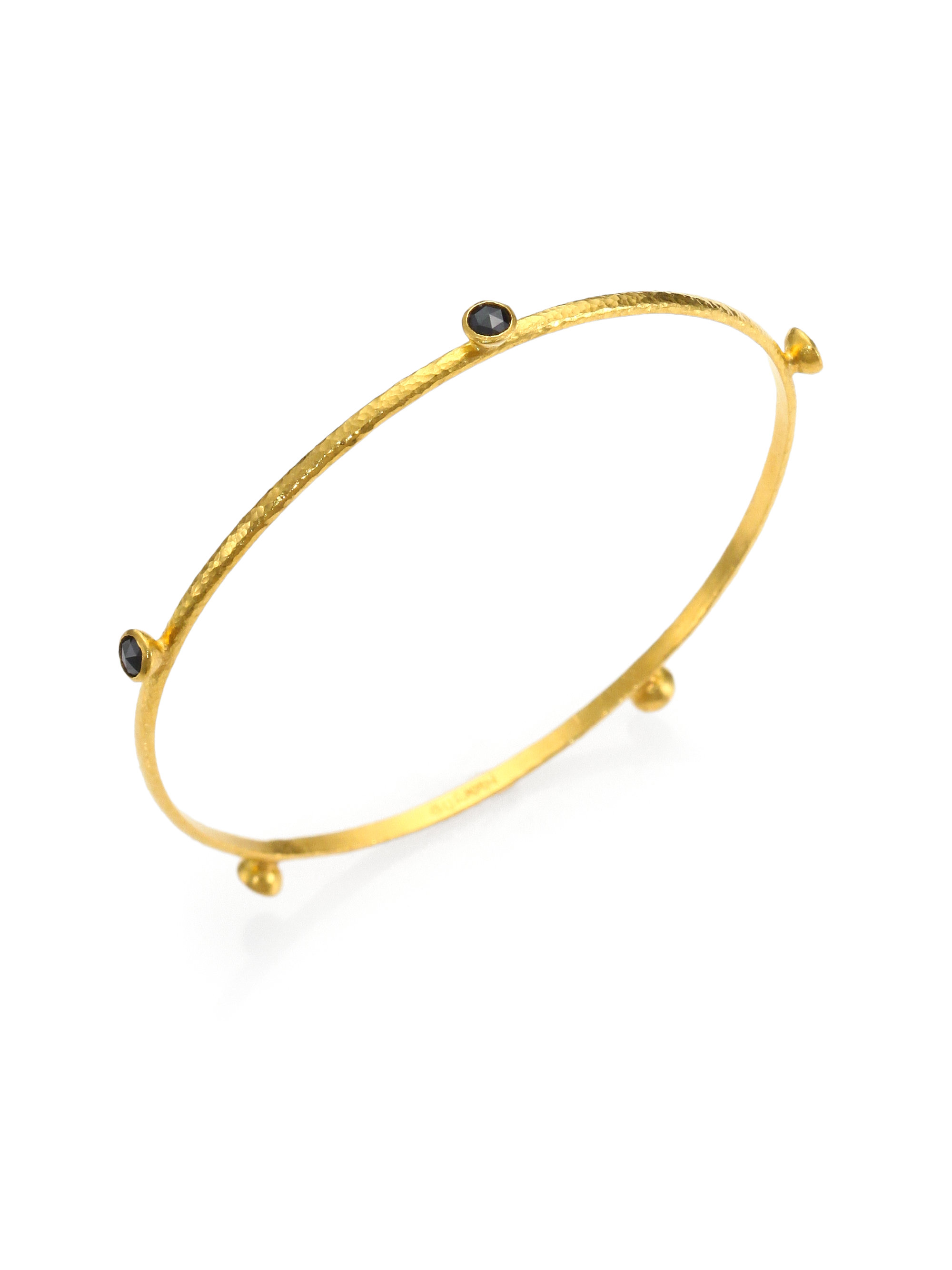 Gurhan 24k Constellation Bangle with Three Black Diamonds UKpNP3S7j8