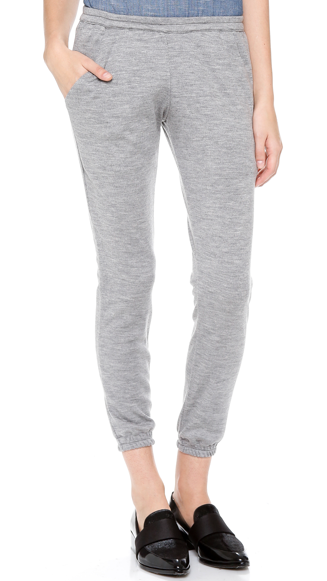 d847ef502c5c3 Lyst - Heidi Merrick Cashmere Sweatpants in Gray