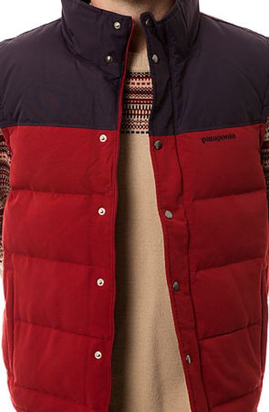 Patagonia The Bivy Down Vest In Red For Men Lyst