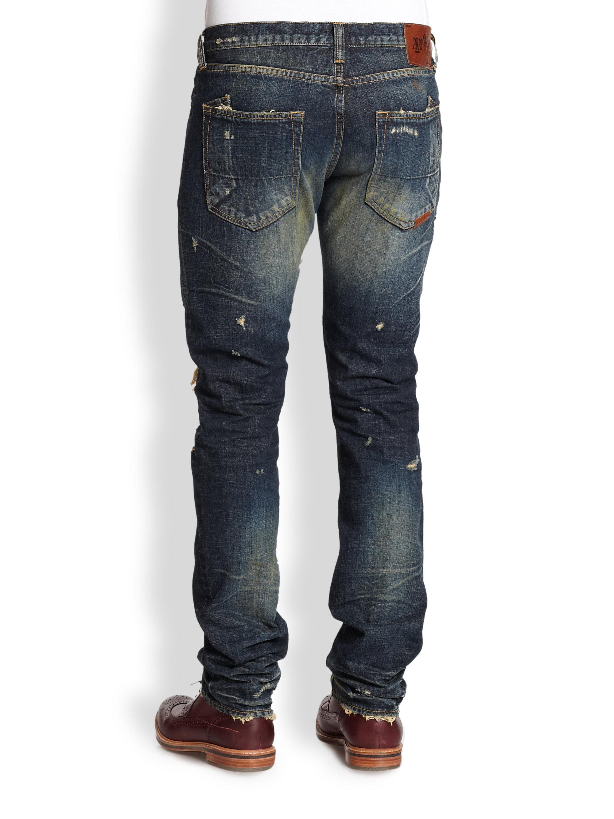 Prps Paint Destroyed Straightleg Jeans in Blue for Men | Lyst