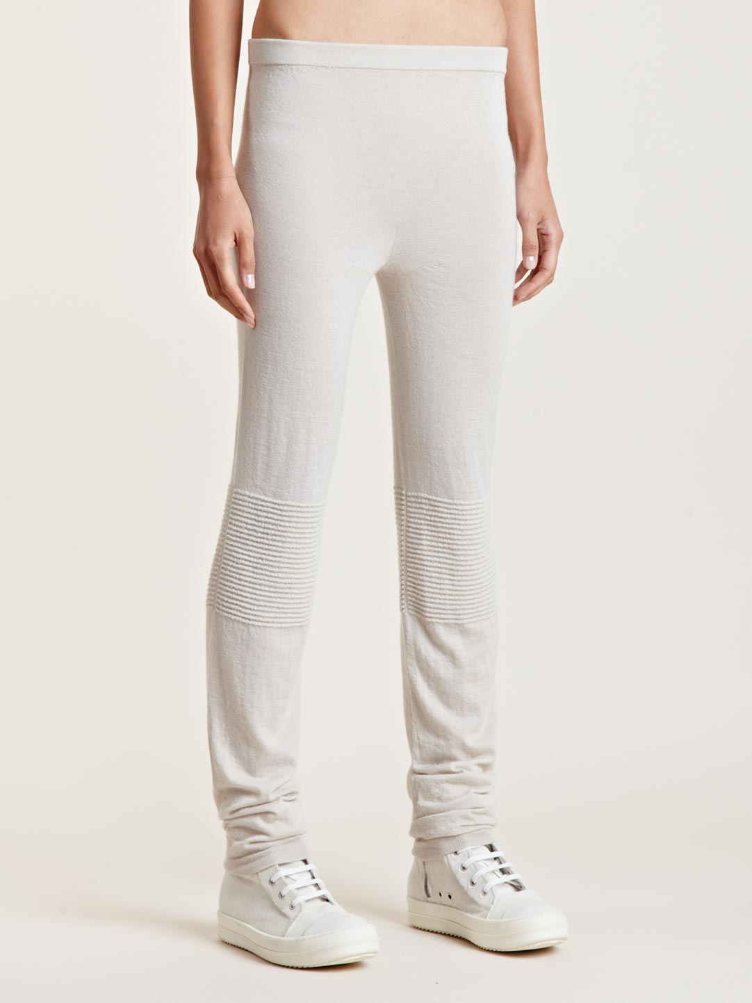 a256c4eaa9ee9 Rick Owens Womens Cashmere Leggings in White - Lyst