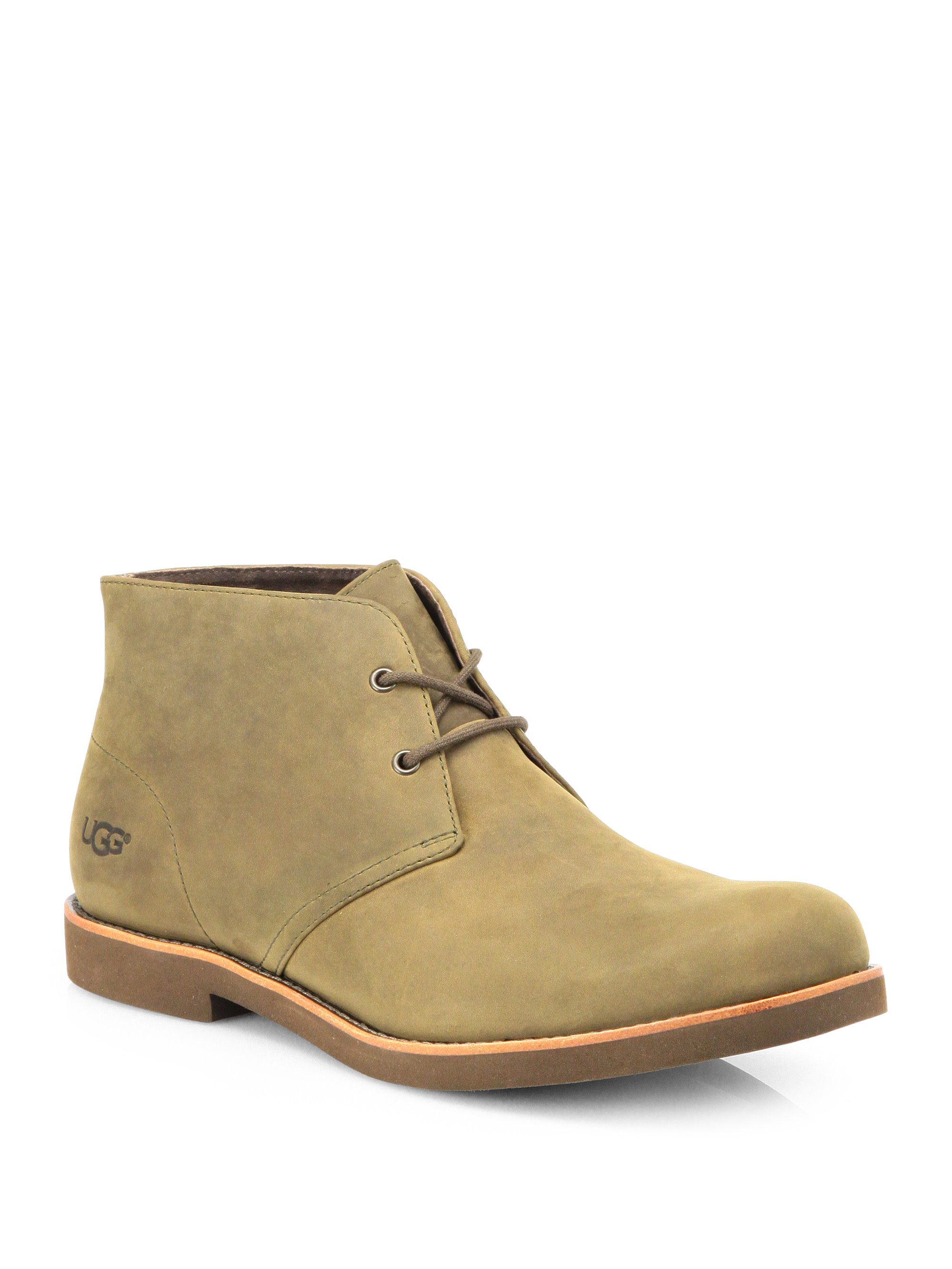 ugg westly nubuck leather chukka boots in beige for lyst