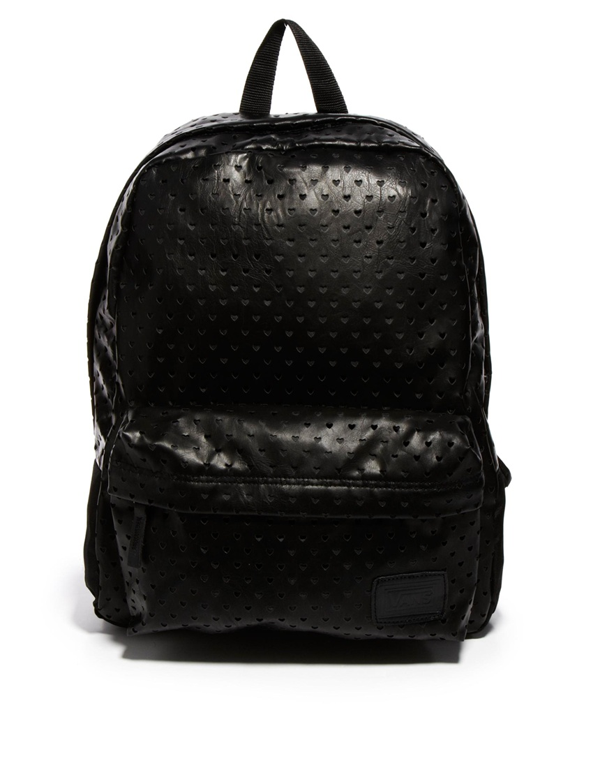 Lyst - Vans Deana Black Heart Backpack in Black
