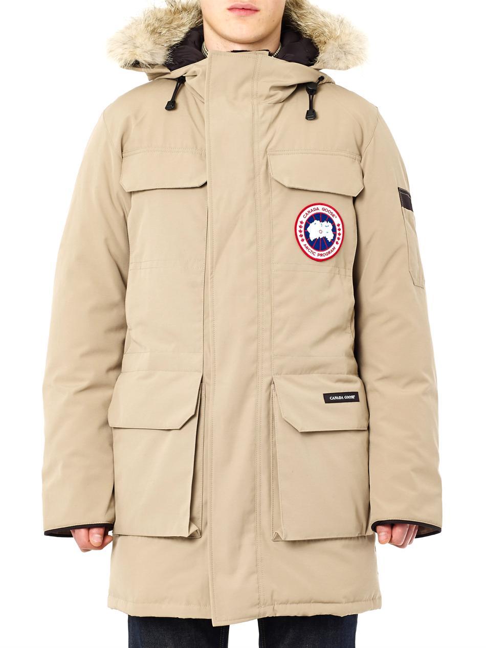 beige canada goose jacket