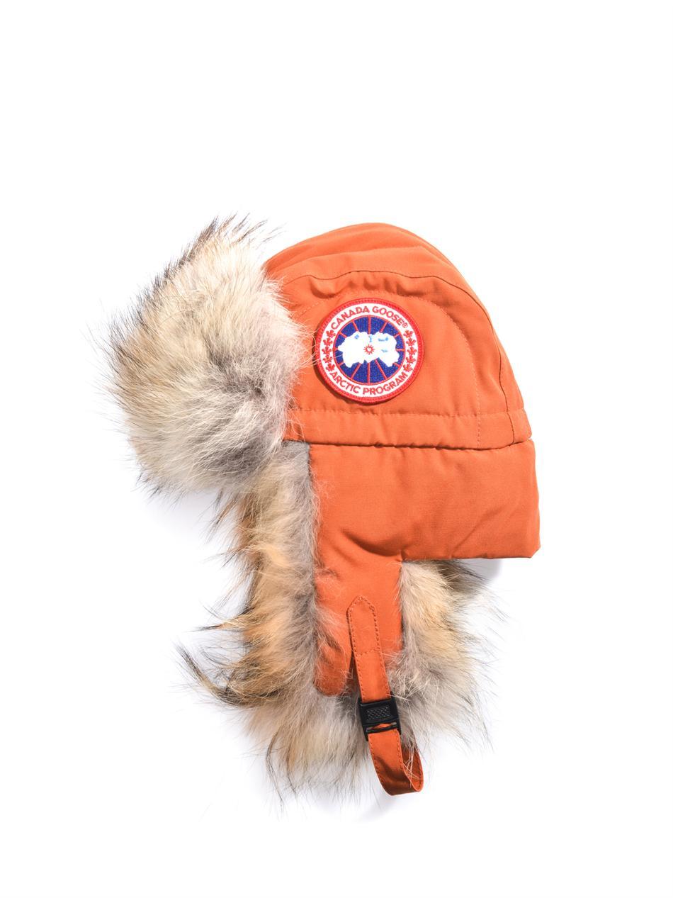 Lyst - Canada Goose Aviator Trapper Furtrim Hat in Orange for Men 110afa0103c