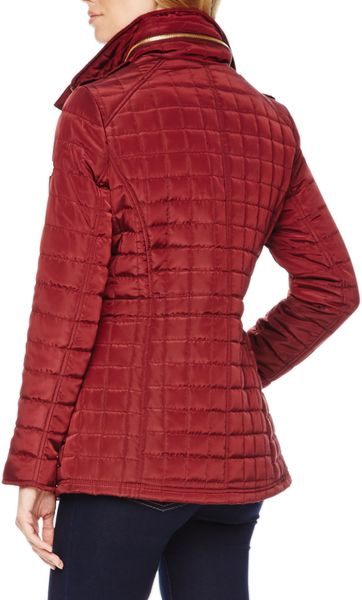 Michael Michael Kors Quilted Puffer Jacket In Red