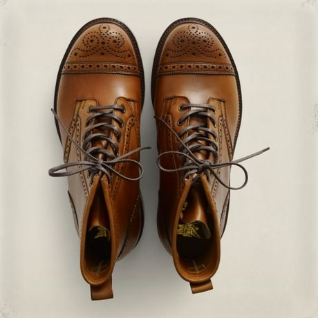 Rrl Bowery Brogue Boot In Brown For Men Lyst