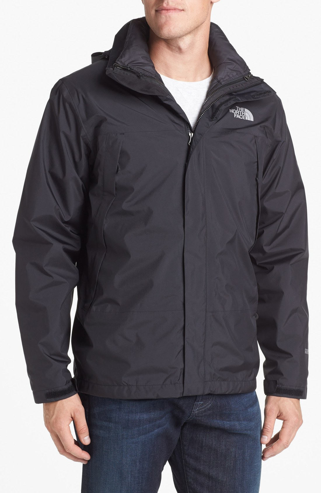 the north face mountain light triclimate 3in1 jacket in black for men. Black Bedroom Furniture Sets. Home Design Ideas