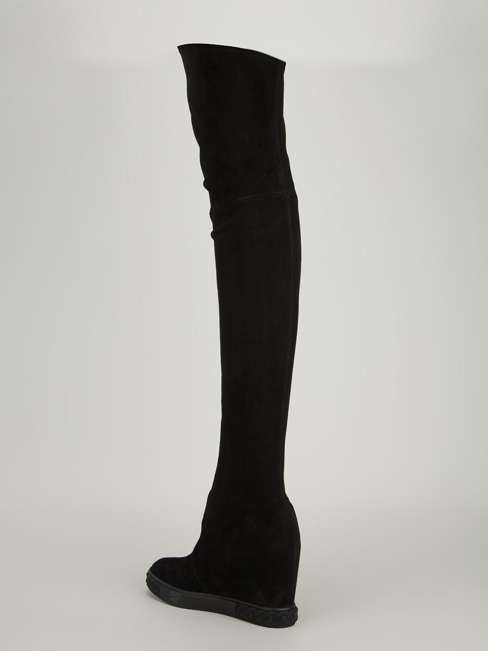 Casadei Wedge Knee-High Boots view cheap online buy cheap footlocker finishline cheap sale countdown package shopping online clearance kpBC9Dhq